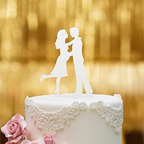 Dankeskarte.com Cake Topper Babybauch - für die Hochzeitstorte - Acrylglas Weiss - XL - Tortenaufsatz, Kuchen, Deko, Tortenstecker, Tortenfigur, Hochzeit, Kuchanaufsatz, Kuchendeko, Mr Mrs, Schwanger