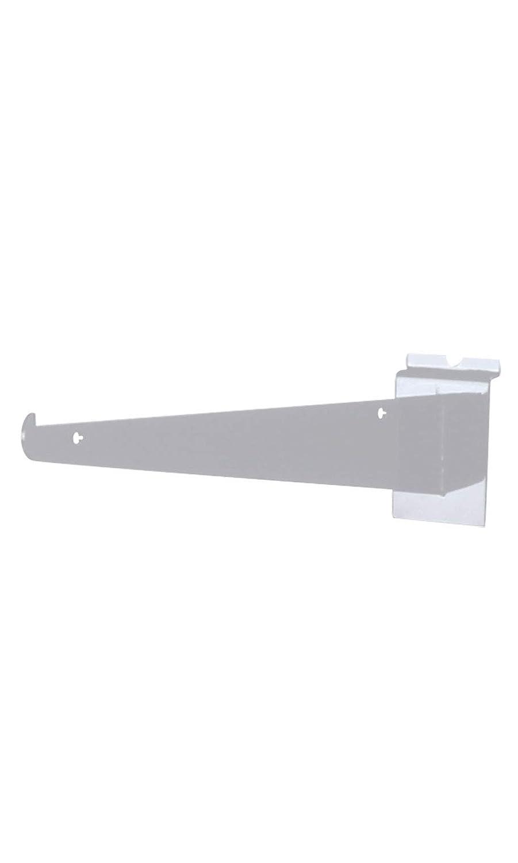 8 inch White Shelf Bracket for Slatwall - Pack of 10