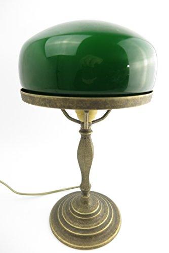 Clever-Deko Tischlampe Bankerslampe Pilz Lampe Jugendstil Antik Bankerlampe Schreibtischlampe Messing NEU Leuchte Schreibtischleuchte Nachttischlampe