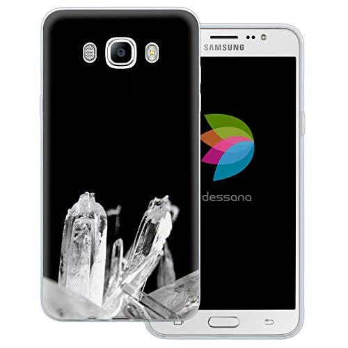 dessana kristal transparante beschermhoes mobiele telefoon case cover tas voor Samsung Galaxy A J, Samsung Galaxy J7 (2016), bergkristal
