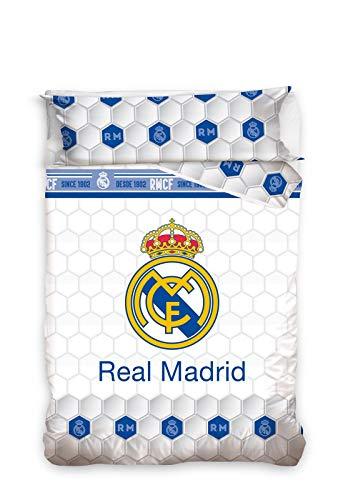 BABYCHISPITAS EDREDON NÓRDICO Real Madrid Escudo CENTRADO 180X260