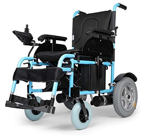 JINKEBIN Electric Silla de Ruedas Silla de Ruedas eléctrica portátil Motor Grande para discapacitados (Color : Small Wheels)