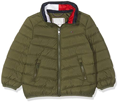 Tommy Hilfiger Unisex Baby U Light DOWN Jacket Jacke, Grün (Olive Night 399), (Herstellergröße:16)