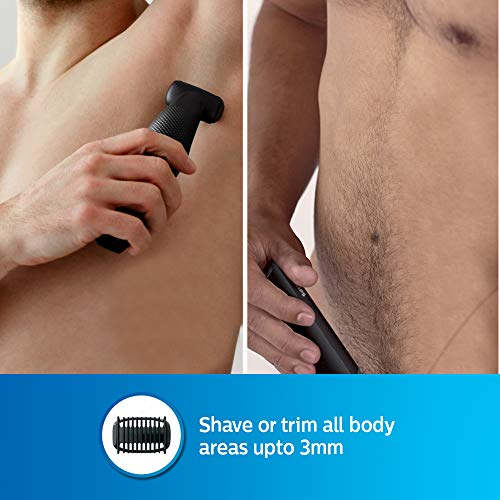 Philips BG3006/15 Cordless Bodygroomer - Skin Friendly, Showerproof, Body Hair Shaver and Trimmer (Black)
