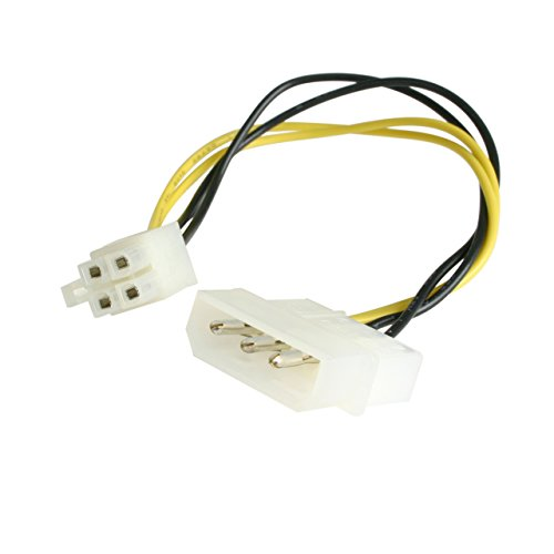 LP4P4ADAP interne stroomkabel 0,152 m - interne stroomkabel (0,152 m, Molex (4-pin), ATX (4-pin), male connector/male connector, recht, recht)