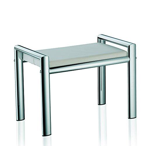 Kela 21986 Sitzhocker, Metall, 66,5x 38,5x 48,5 cm, Lunis, Weiß