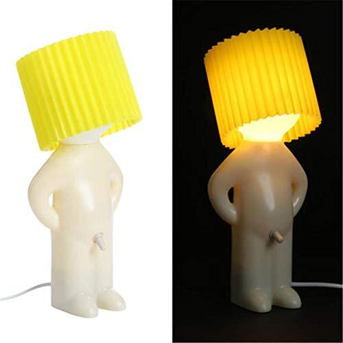 Lampada notturna Mr. P un po' di intimidità, lampada creativa Naughty Boy, piccola notte luminosa, colore caramella Naughty Boy, luce notturna per casa, regalo di Natale (giallo)