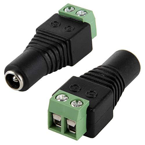 Lamp-adapter, sensorschakelaar, LED-sensor, 5,5 mm x 2,1 mm DC Power krik vrouwelijk op 2 schroefdraden voor LED-lichtdimmer