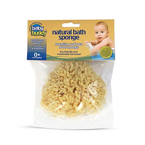 "Baby Buddy's Natural Baby Bath Sponge 2 Pack 4-5"" Ultra..."