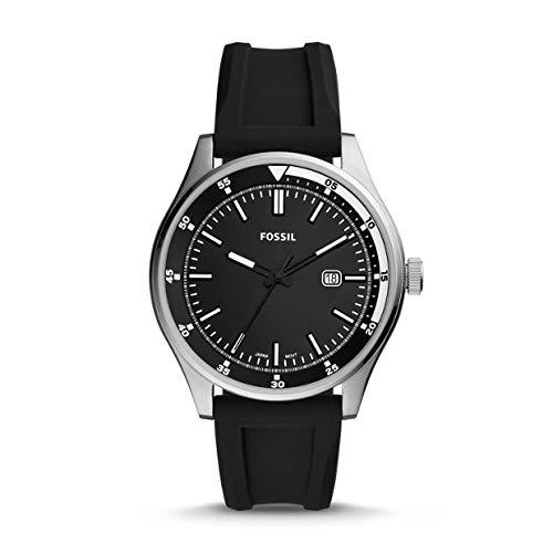 Fossil heren analoog kwarts horloge met siliconen armband FS5535