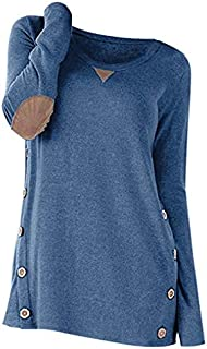 Panel Round Neck Button Sweater