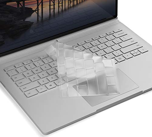 Premium Ultra Thin Keyboard Cover for Microsoft Surface Laptop 2 2018, Surface Laptop 2017, Surface Book 3/2/1 13.5 and 15 inch, Surface Laptop Accessories(NOT Fit for Surface Laptop 3), US Layout