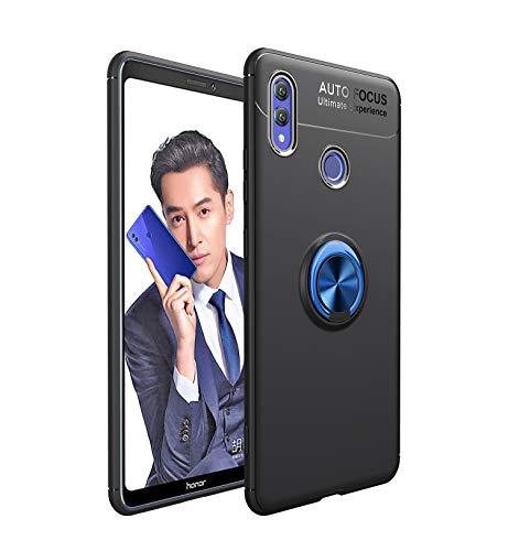 FNBK Ring Hülle kompatibel mit Huawei Note 10, Ultra Dünn Kickstand Handyhülle 360 Grad Metall Ring Ständer Magnetische Autohalterung Schutzhülle für Huawei Note 10,Schwarz + Blau