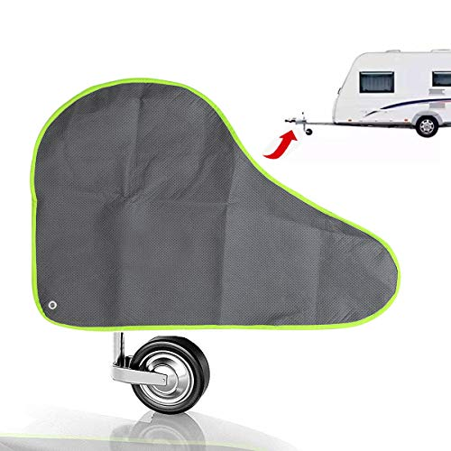 ELUTO Hitch Cover Universal Non-woven Fabric Caravan Trailer Towing Hitch Cover Waterproof and Breathable Trailers Cover with Straps and Fluorescent Strips