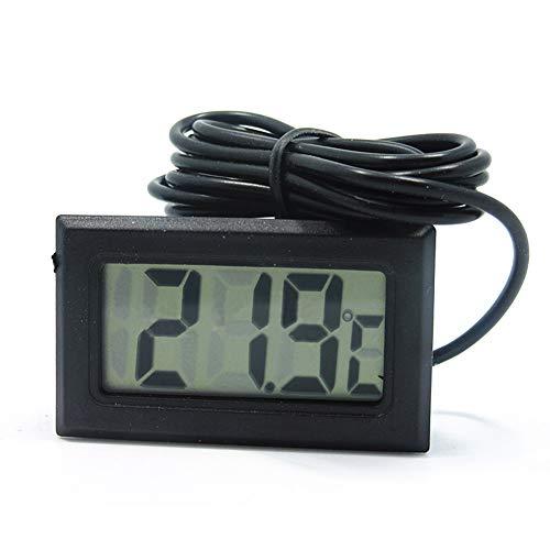 Einsgut Digital LCD Temperaturanzeige 5m Sonde Kühlschrank Wasser Thermometer Für Die Temperaturmessung Im Auto, Klimaanlage, Kühlschrank, Babybadewasser