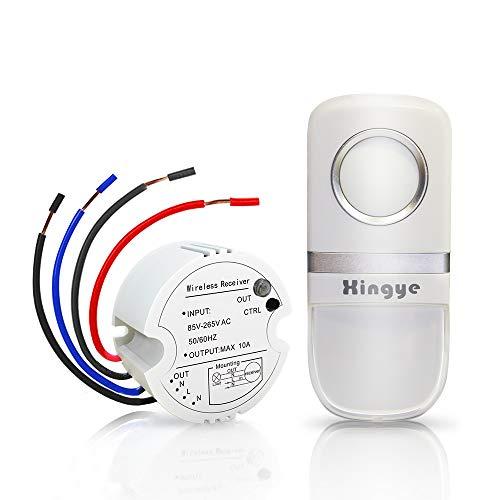 sans pile Aucun c/âblage sans Wifi,150feet Actionner Gamme /étanche IP44,R/écepteur 2300W Commande /à Distance Sans Fil ON//OFF Pour /éclairage Kit Interrupteur sans fil