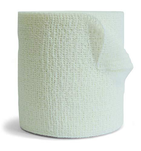 Eurelasto L- Venda Cohesiva Blanco, Suave y Adaptable. (m 20 x cm 10)