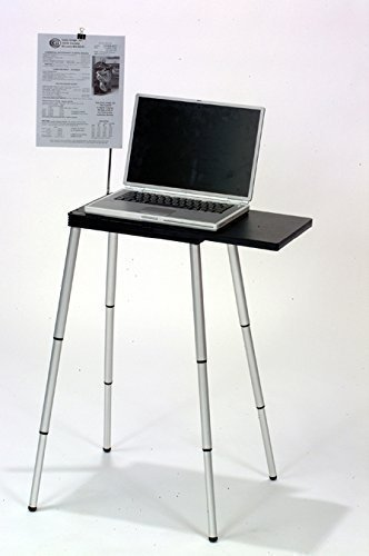 Tabletote Black Portable Compact Lightweight Adjustable Height Laptop Notebook Computer Stand Table