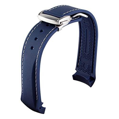 HANLILI kasu Termine Curvo 20 mm 22 mm 19 mm 21 mm Bandas de Reloj de Silicona de Goma Ajuste for el Reloj Omega AT150 Seamaster 007 for Seiko Strap Marca de Reloj