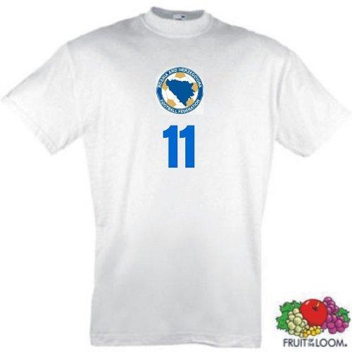 world-of-shirt Herren T-Shirt Bosnien Trikot look