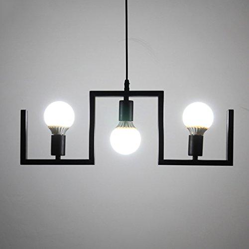 candelabro LQ Personalidad Creativa Ropa Moderna Simple Tienda Bar Lámpara de Mesa Sala de Estar Lámpara de Comedor Retro Tres Cabezales Arañas de Restaurante