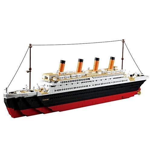 Las Partículas Pequeño Diamante Modelo Barco Miniatura, Bloque Hueco Modelo Grande, Ladrillos...