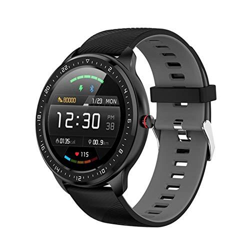 ADH Reloj Inteligente de los Hombres Z06, Pantalla táctil IP67 Impermeable a Prueba de Agua Presión Arterial Monitor Monitor de Control de música Modo de Ejercicio, Adecuado para Android iOS,C