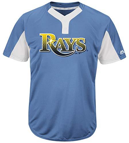 Majestic Tampa Bay Rays Premier Eagle Cool Base Men's 2-Button Jersey Medium