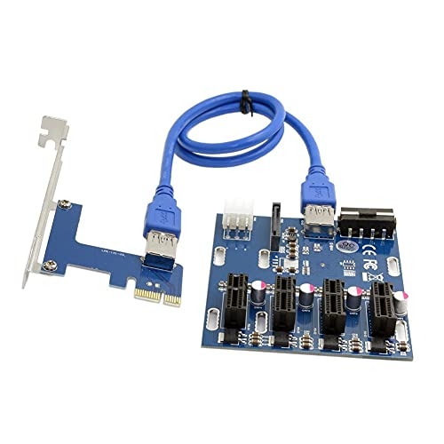 BTUWRUI Add in Karte PCIe 1 Bis 4 PCI Express Riser Karte ITX to External 4 PCI-E Slot PCIe Port Multiplier Karte