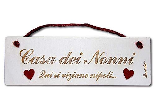 Dacl'Art Targa in Legno Casa dei Nonni tgn-06 Made in Italy
