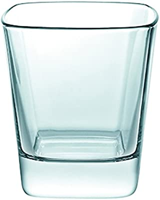 Borgonovo Palladio Juego de 6 Vasos de Vidrio, Double Old Fashion, 350 ml