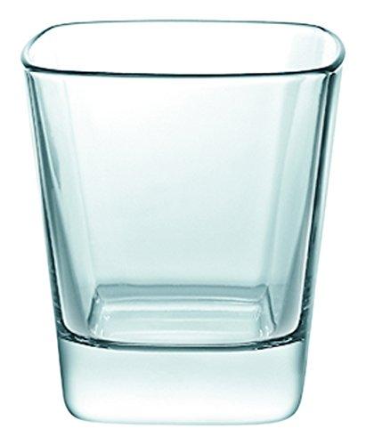 Borgonovo Palladio Juego de 6 Vasos de Vidrio, Double Old Fashion, 350 ml