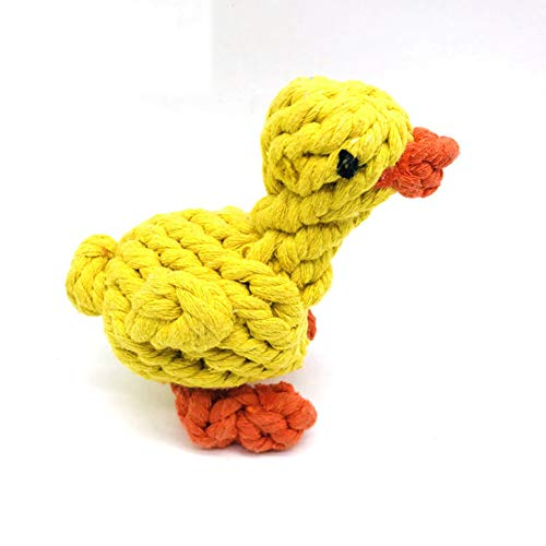 Dog Toys, Durable Dog Rope Toys for Small Pets Dogs, Puppy Toys Set Dog Chew Toys for Interactive, Teething Training, Dental Health, Teeth Cleaning, Best Gift for Dogs(Duck)