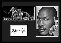 10種類! マイケル・ジョーダン/Michael Jordan /サインプリント&証明書付きフレーム/BW/モノクロ/ディスプレイ/3W (01) [並行輸入品]