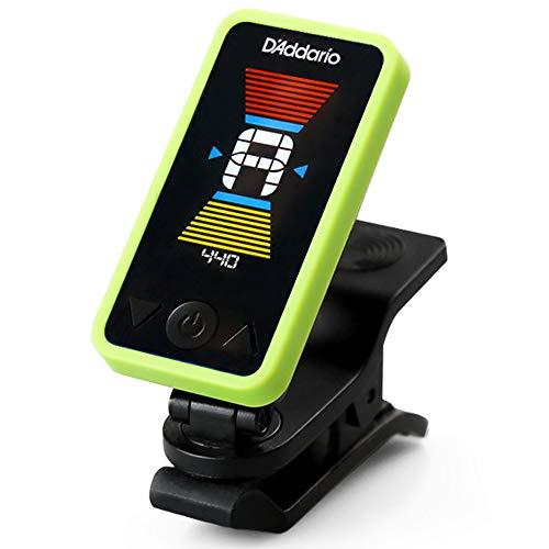 HLSE Accordatore per Chitarra Accordatore elettronico a Clip Digitale Schermo LCD per Chitarra Bassi cromatici Ukulele Girevole a 360 Gradi Acustico rapido e preciso (Verde)