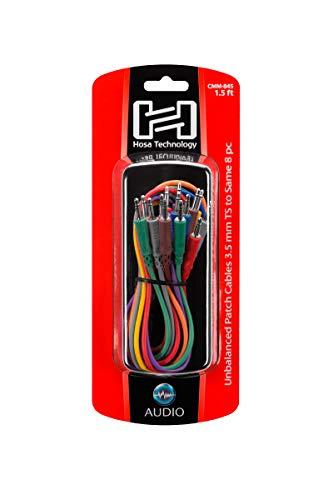 Hosa CMM-845 3.5 mm TS to 3.5 mm TS Unbalanced Patch Cables, 1.5 Feet