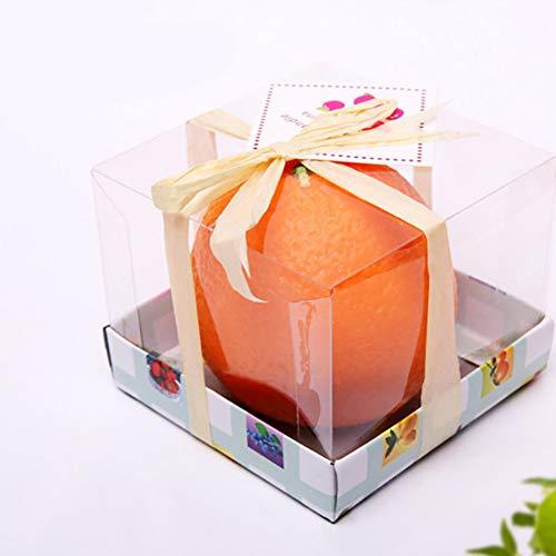 BeesClover Vela Naranja Emulacional Vela Navideña Regalo Vela Perfumada de Frutas One Medium Orange 6cm Practical