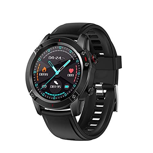 Reloj Inteligente, 1,28 Pulgadas Rastreador De Fitness Pantalla Táctil Completa Carga Magnética IP68 A Prueba De Agua 2 Colores por Hombres Y Mujeres-Black-b