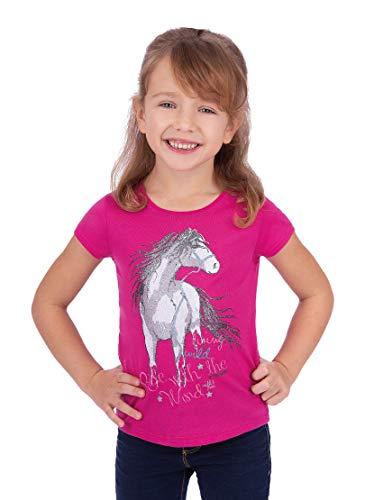 Trigema Mädchen 236248119 T-Shirt, hibiskus , 128