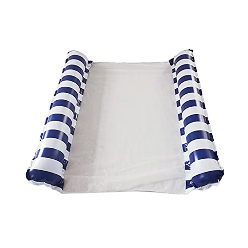 Cama flotante inflable, 4 en 1 doble piscina flota doble hamaca de agua piscina inflable flotante silla flotante, sofá de agua, alfombra de playa para piscina playa mar