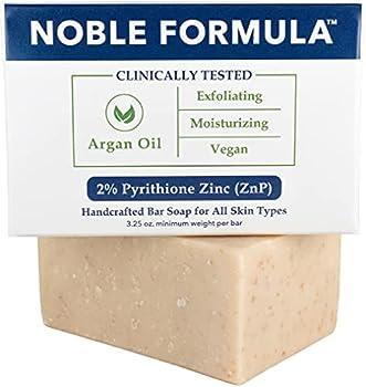 Noble Formula 2% Pyrithione Zinc  ZnP  Argan Oil Bar Soap 3.25 oz