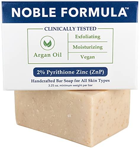 Noble Formula 2% Pyrithione Zinc (ZnP) Argan Oil Bar Soap, 3.25 oz
