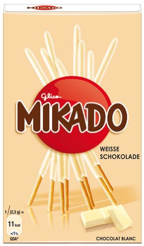 Mikado Weisse Schokolade, Sticks mit feiner Schokolade - 75gr - 6x
