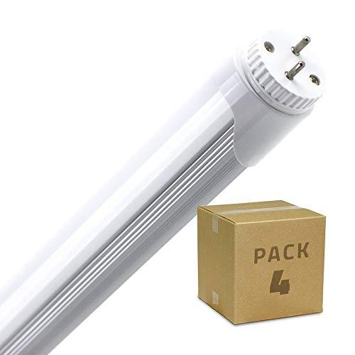 LEDKIA LIGHTING Pack Tubo LED T8 1200mm Conexión un Lateral 18W (4 un) Blanco Frío 6000K - 6500K