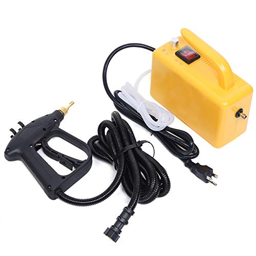 High Temperature High Pressure Steam Cleaner, 110V 1600W Portable Steam Cleaner Multi-Purpose Cleaning Handheld Cleaning Machine, Steam Cleaner for Most Floors, Counters, Windows, Autos (Yellow)
