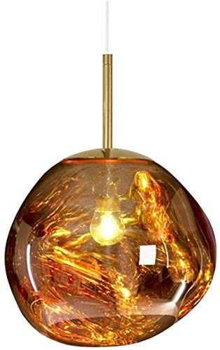 Moderne Kronleuchter Pendelleuchte Glasschmelzen Lava unregelmäßige Wohnzimmer Kronleuchter Gold Bronzespiegel, gold, 25cm,Gold