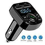 SOOTEWAY Transmetteur FM Radio Bluetooth Voiture, Adaptateur Bluetooth 4.2 Car Audio...