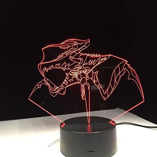 Jiushixw 3D-nachtlampje van acryl met tafellamp voor kleurverandering op afstand
