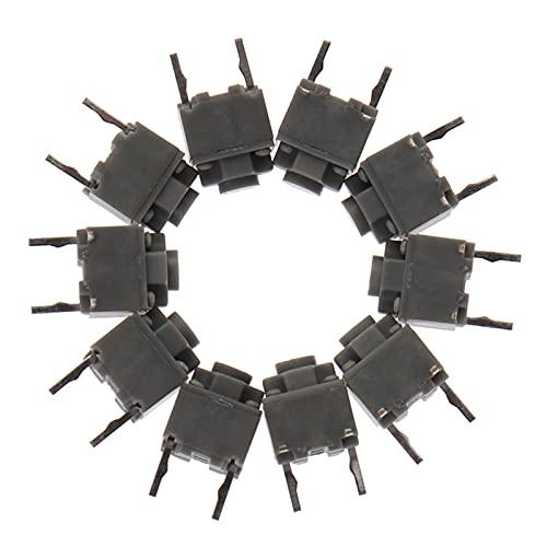 Jgzwlkj Interruptores de botón 10pcs / Lot botón de Silencio 6 * 6 * 7.3 Interruptor silencioso Ratón inalámbrico con Cable de Interruptor Micro Micro