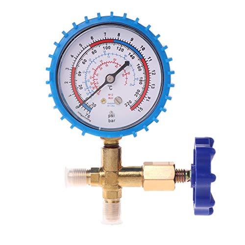 Klimaanlage Manometer Manometer /& Ventil 800psi 55kgf Manometer cm/² Passend f/ür R404a R22 R410 R134A Wasserdruckmesser